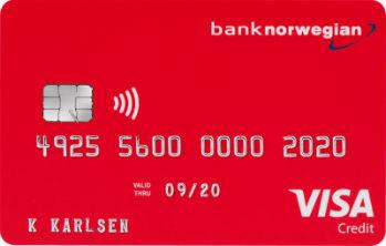 Gratis bankkort Bank Norwegian
