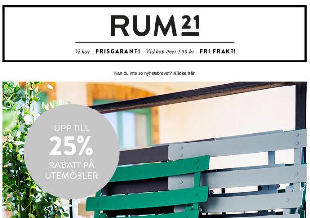 Just nu 25% hos Rum21