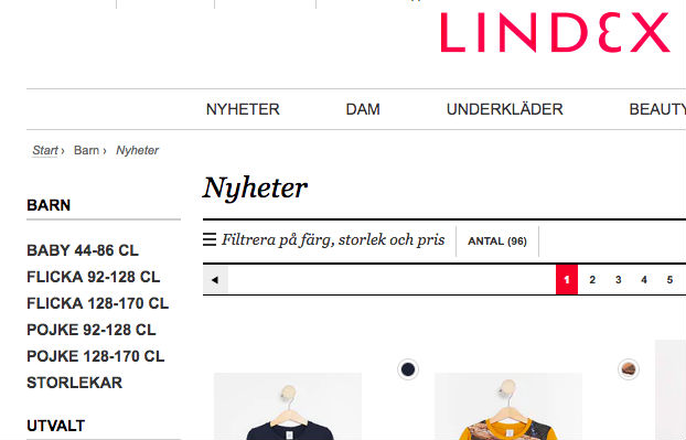 Köp 3 betala för 2 på barnkläder hos Lindex med rabattkod